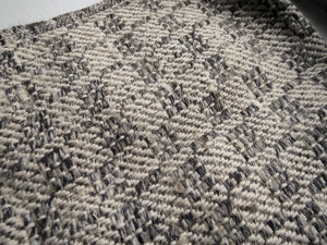 sample with heavy linen yarn